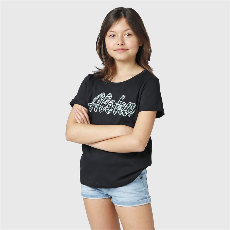 Brunotti Oulinas-JR  (zwart) - meisjes t-shirts & topjes - Brunotti online shop