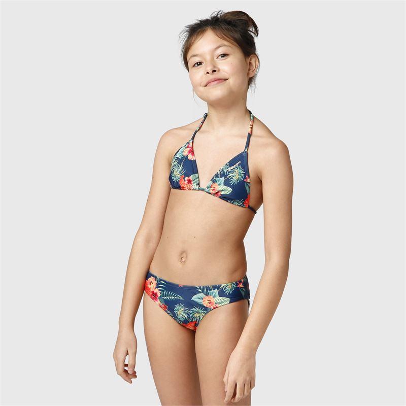 Brunotti Lollypop-Flower-JR  (blauw) - meisjes bikini's - Brunotti online shop