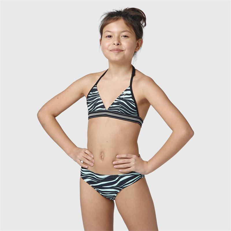 Brunotti Noelle-Zebra-JR  (blue) - girls bikinis - Brunotti online shop