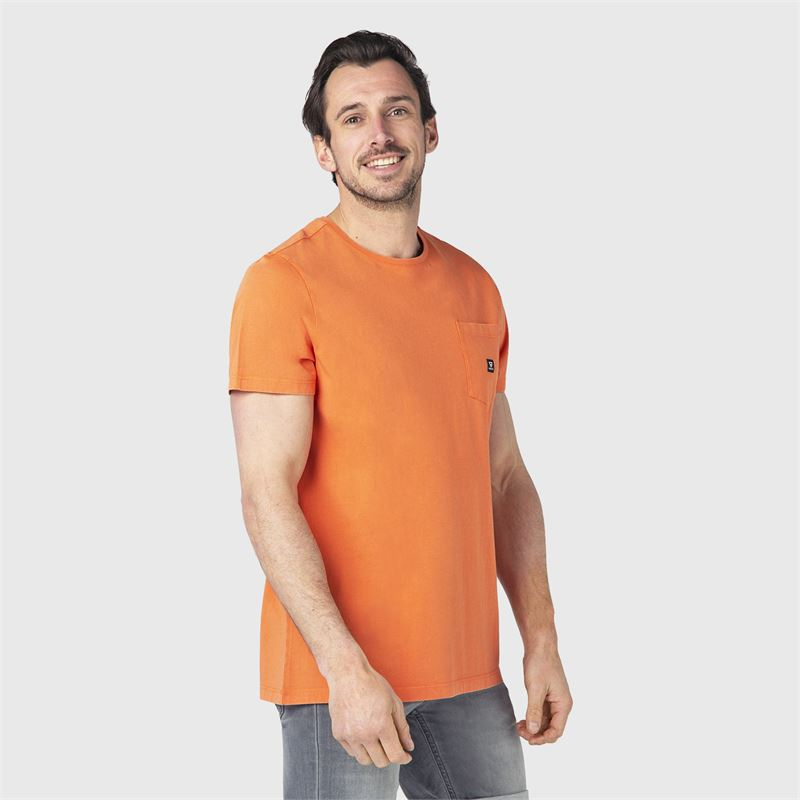 Brunotti Axle-N  (oranje) - heren t-shirts & polo's - Brunotti online shop