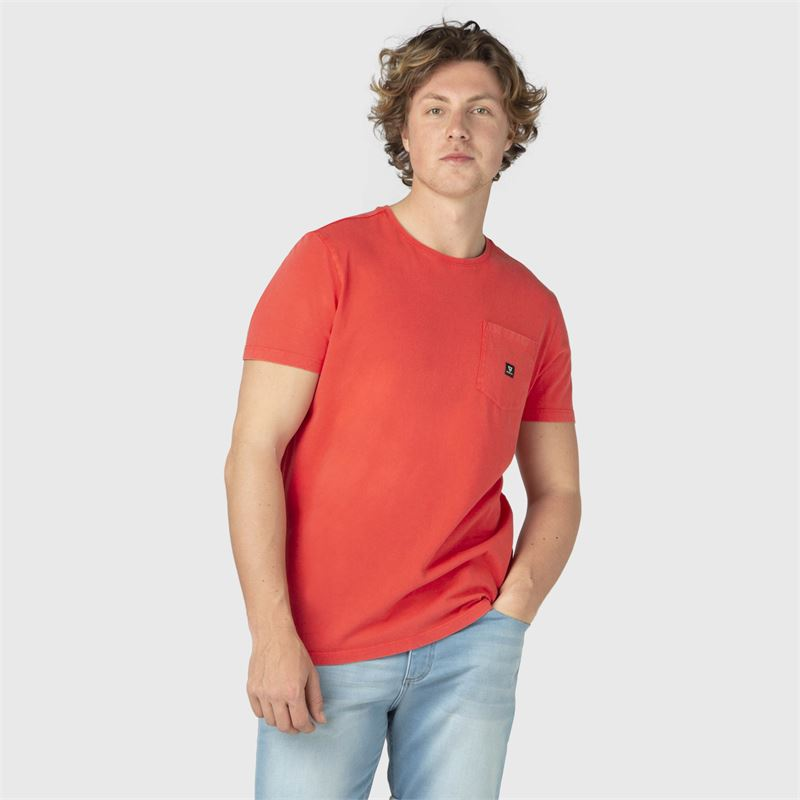 Brunotti Axle-N  (oranje) - heren t-shirts & polo's - Brunotti online shop