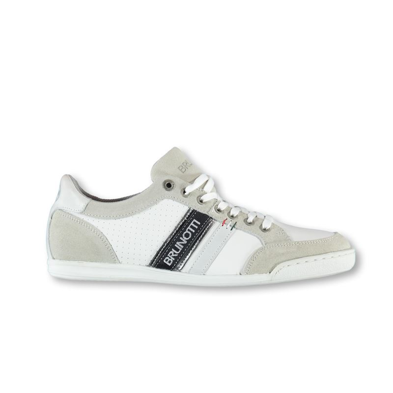 Brunotti Messina  (wit) - heren schoenen - Brunotti online shop