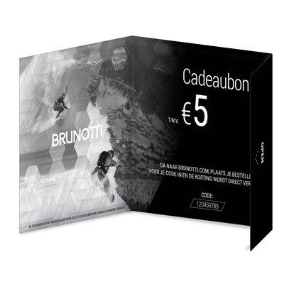 Brunotti Giftcard 5 Euro Uni. Beschikbaar in One Size (PRE999001-00)